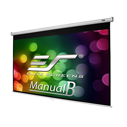 100 Inch Elite Screens Manual B, 16:10, Manual Pull Down Projector Screen 4K/8K Ultra HDR 3D Ready