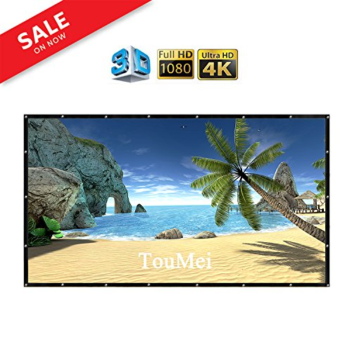 TOUMEI - 120 Inch Portable Projector Screen Foldable Material