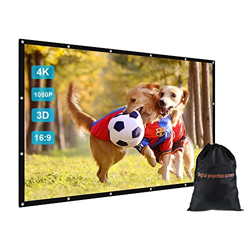 GBTiger 150 Inch Outdoor Movie Projector Screen with Bag - Ideal Outdoor Movie Screen for Home Cinema