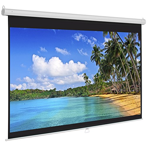 Best Choice Products Manual Projector Projection Screen Pull Down Screen, 119