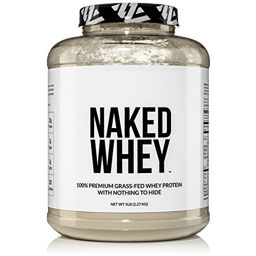 NAKED WHEY 5LB 100% Grass Fed Whey Protein Powder - 76 Servings