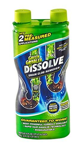 Green Gobbler DISSOLVE Liquid Hair & Grease Clog Remover