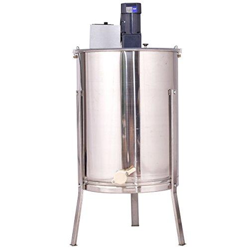 Goplus 4 Frame Large Electric Honey Extractor Stainless Steel Beekeeping Equipment