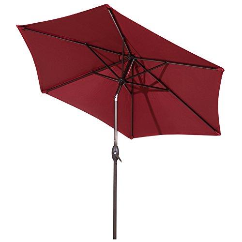 9 ft Abba Patio Outdoor Patio Umbrella Comes with Push Button Tilt and Crank
