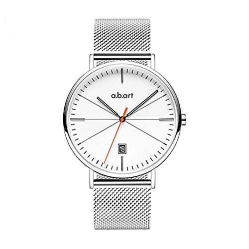 Analog Quartz Dress Watch With Stainless Steel Mesh Strap Watch From abart