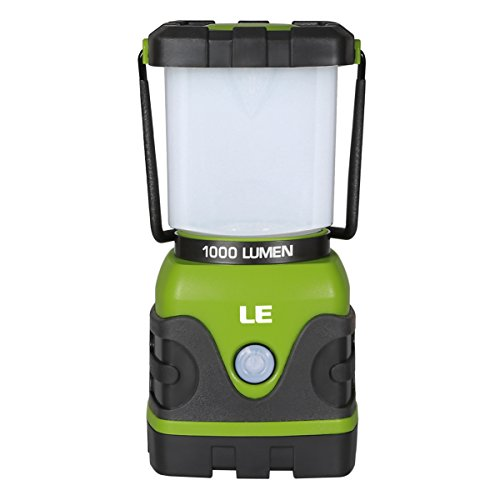 LE 1000lm Dimmable Portable LED Camping Lantern 4 Modes Water Resistant Light Battery Powered Lamp