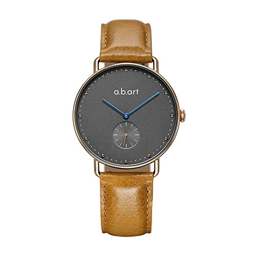abart FR36-004 Grey Dial Wrist Watch for Women Croco Alexander Calf Leather Strap Dress Watches
