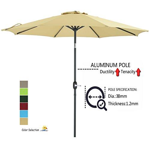Patio Watcher 9-Ft Aluminum Patio Umbrella with Push Button Tilt