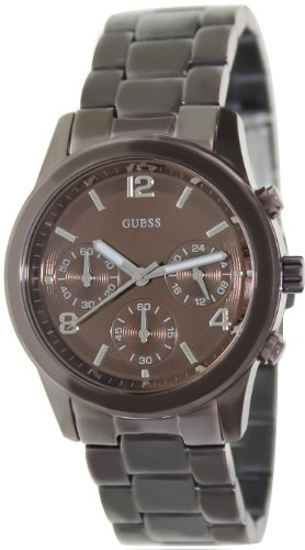 GUESS Women's Chronograph Bronze Tone Stainless Steel Watch