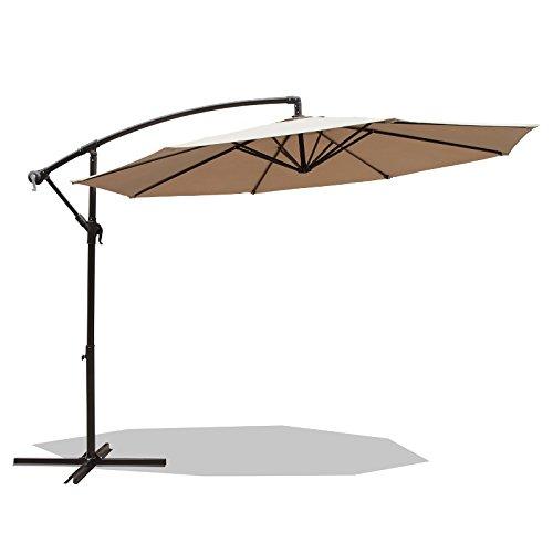 PATIOROMA 10 Feet Aluminum Offset Cantilever Patio Umbrella