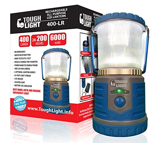 Tough Light LED Rechargeable Lantern - 200 Hours of Light from a Single Charge