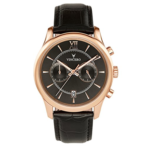 Vincero Luxury Men's Bellwether Wrist Watch With Italian Leather Watch Band