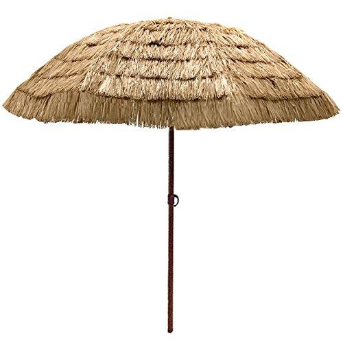 Thatch Patio Tiki Umbrella - Tropical Palapa Raffia Tiki Hut Hawaiian Hula Beach Umbrella