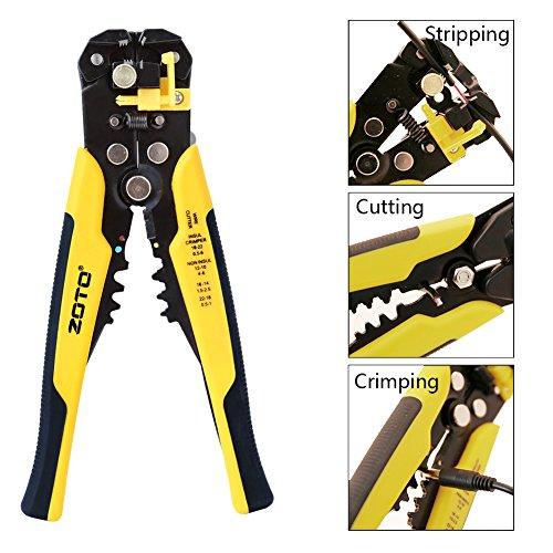 ZOTO Self-adjusting Cable Cutter, Crimper, Wire Stripper