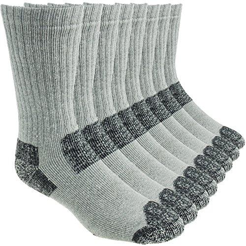 Working Person's 8766 Grey Steel Toe Crew Socks