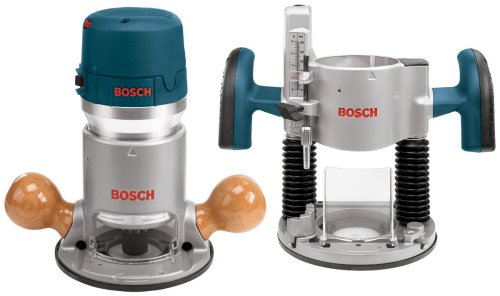 Bosch 12 Amp 2-1/4 Combination Horsepower Plunge and Fixed Base Router - Variable Speed Router Kit