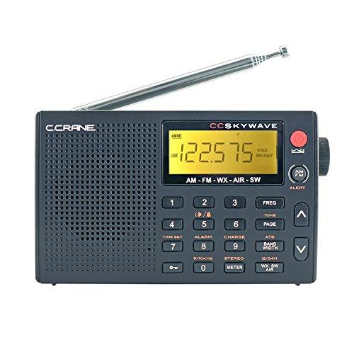 C Crane CC Skywave AM, FM, Shortwave, Weather, and Airband Portable Travel Radio