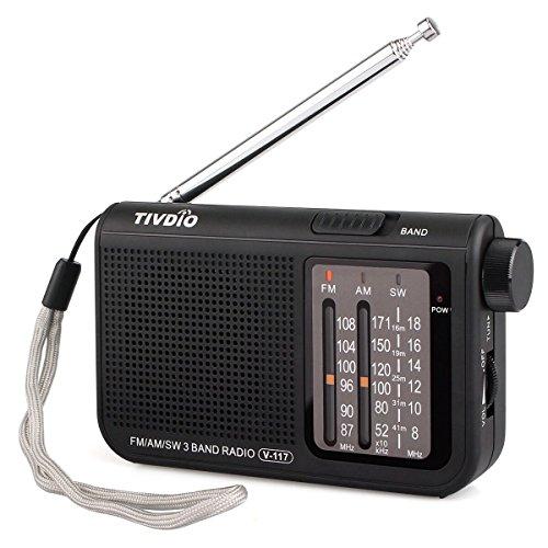TIVDIO V-117 AM FM Analog Radio Portable Shortwave Transistor