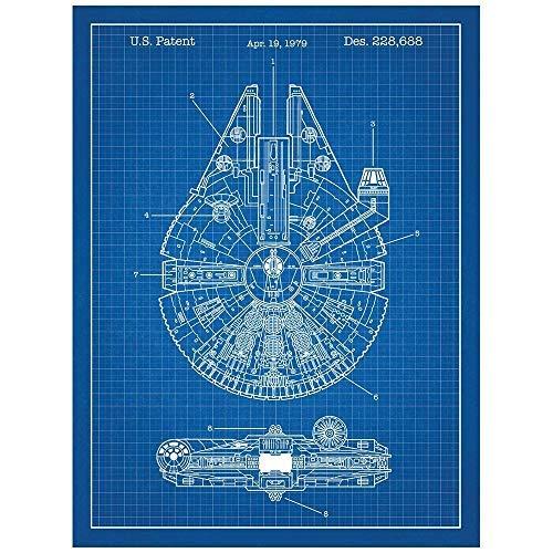Millennium Falcon Patent Art Poster