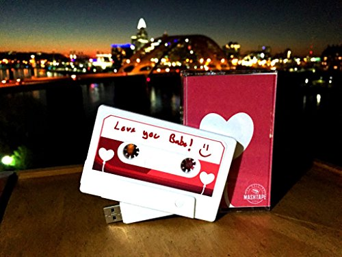 Heart Balloon Mix Tape Flash Drive