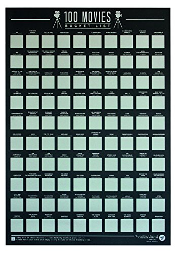 Top 100 Movies Scratch Off Poster