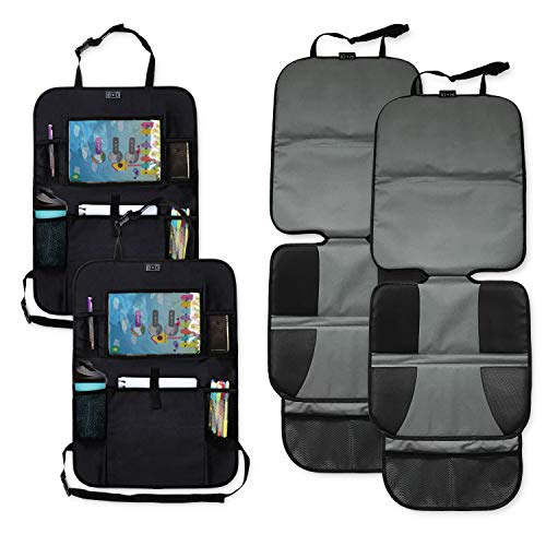 Emma + Ollie Car Seat Protector and Kick Mat Car Seat Cover (4 Pack)
