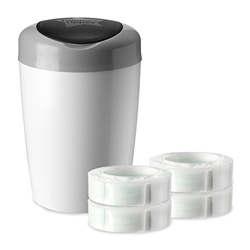 Tommee Tippee Simplee Diaper Pail Starter Set with 4 Refills