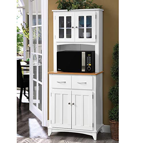 Home Source Industries Brook Tall Microwave Cabinet