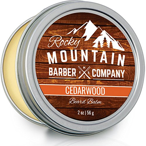 Beard Balm - Rocky Mountain Barber - 100% Natural - Premium Wax Blend with Cedarwood Scent