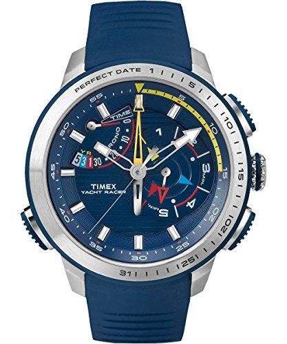 Timex Yacht Racer Blue Dial Silicone Strap Men's Watch