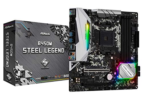 ASRock B450M Steel Legend Socket AM4 Motherboard