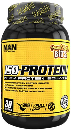 MAN Sports ISO-Protein 100% Pure Whey Protein Isolate Powder