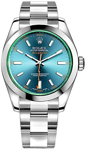 Rolex Milgauss Blue Dial Oyster Bracelet