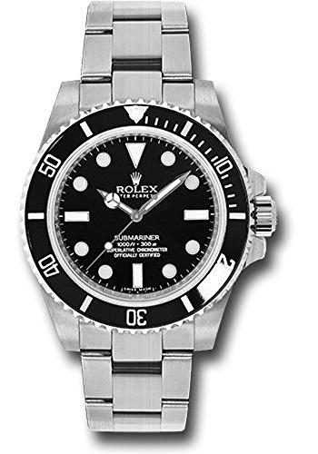 Rolex Submariner Black and Stainless Steel Men's Watch