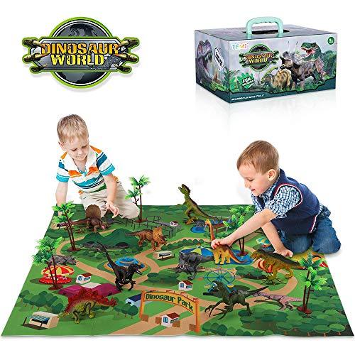 TEMI Dinosaur Toys with Activity Play Mat