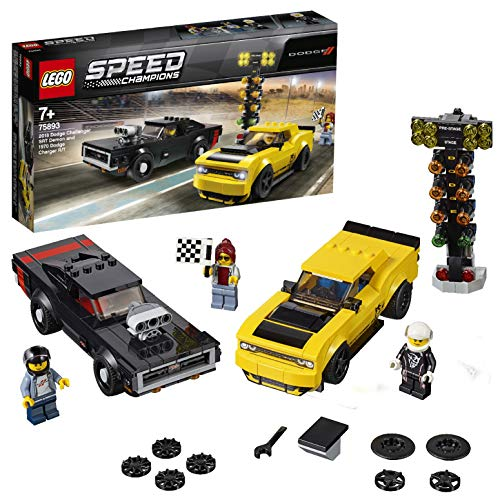 LEGO Speed Champions 2018 Dodge Challenger SRT Demon and 1970 Dodge Charger R/T 75893 Building Kit