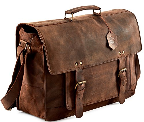 Touch of Leather Buffalo Hunter Leather Messenger Bag