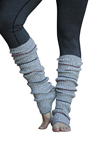 Lucky Love Striped Multicolor Reversible Knit Leg Warmers