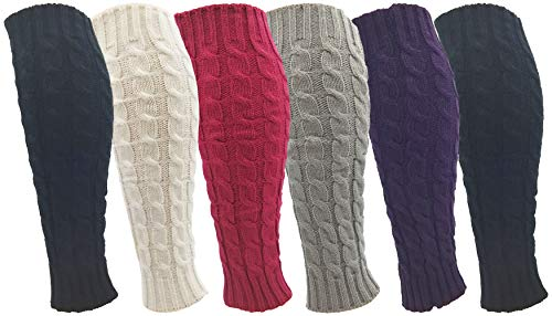 Winterlace Leg Warmers for Women, 6 Pairs