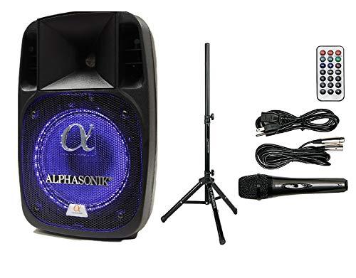 "Alphasonik 12"" Powered 2000W PRO DJ Amplified Loud Speaker Bluetooth USB"