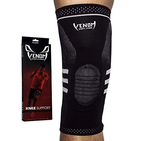 Venom Knee Sleeve Gel Padded Support w/ Side Stabilizers
